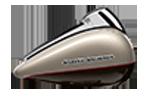 Motocykel Harley-Davidson touring Street Glide Special farba Silver Fortune / Sumatra Brown
