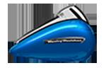 Motocykel Harley-Davidson touring Road Glide Ultra farba Electric Blue