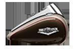 Motocykel Harley-Davidson touring Road King farba Silver Fortune / Sumatra Brown