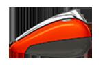 Motocykel CVO Road Glide model 2018 farba Orange Lava / Dark Alloy