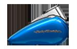 Motocykle Harley-Davidson Bratislava Softail Deluxe farba Electric Blue