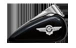 Motocykle Harley-Davidson Bratislava Softail Fat Boy farba Black Tempest