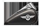 Motocykle Harley-Davidson Bratislava Softail Fat Boy farba Industrial Gray