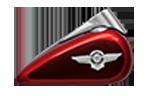 Motocykle Harley-Davidson Bratislava Softail Fat Boy farba Wicked Red / Twisted Cherry
