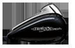 Motocykel Harley-Davidson touring Street Glide farba Black Tempest