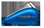 Motocykel Harley-Davidson touring Street Glide farba Electric Blue