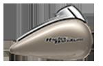 Motocykel Harley-Davidson touring Street Glide farba Silver Fortune