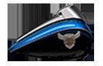 Výročná farba na motocykloch Harley-Davidson modely 2018 Legend Blue / Vivid Black