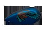 Výročná farba na motocykloch Harley-Davidson modely 2018 Legend Blue Denim