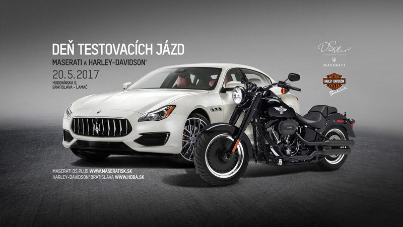 Deň testovacích jázd Maserati a Harley-Davidson v Bratislave