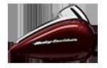 Motocykel Harley-Davidson touring Road Glide Ultra farba Twisted Cherry
